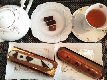 ラ・メゾン・デュ・ショコラ バレンタイン限定のボンボンショコラ3種とエクレールヴァニーユショコラ